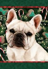 French Bulldog (White): House Flags and Garden Flags. Two designs and two sizes