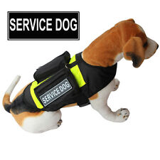 SERVICE DOG Vest K9 Training Dog Harness POCKETS Side Bags FREE 2 Magic Patches