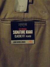 New w/ tags! Mens BIG AND TALL DOCKERS SIGNATURE KHAKI CLASSIC FIT PLEATED PANTS