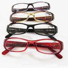 Computer Reading Glasses Rhinestones Women Fashion Clear Lens +1.00 - +3.00