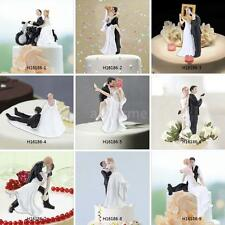 Romantic Bride and Groom Wedding Couple Dancing Hug Cake Decor Topper New G7N3