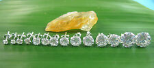 BUY 4 GET 1 FREE 925 sterling silver 2mm to 10mm ROUND CZ studs EARRINGSS UNISEX