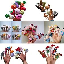 FAIRY TALE STORY TELLING Finger Puppets Baby Kids Animal Family Set Plush Dolls