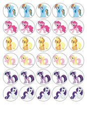 30 MY LITTLE PONY 6 CHARACTERS EDIBLE WAFER/RICE PAPER CUP CAKE TOPPERS