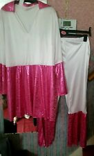Fancy dress : Ladies ABBA outfit Would fit Ladies Up To A Size 18-22