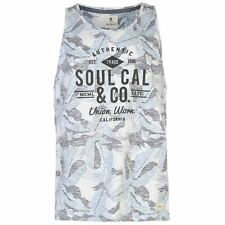 SoulCal All Over Print Vest Tank Top Mens