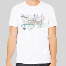 London Underground Map Tube Station Cool City Famous LDN Tee Top Shirt T-shirt