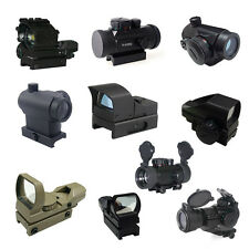Reticle Blue Red Green Dot Laser Sight Scope Rangefinder MilDot Weaver Mount