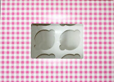 Pink Gingham Cake Boxes  Cupcake or Muffin Window, Holds 6 Cakes