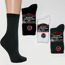 6 Pairs Boys/Girls Ankle Socks, Ideal for School,Cotton/Polyamide/Lycra-Elastane