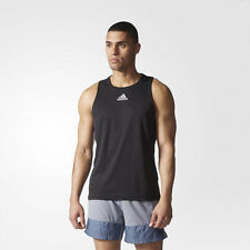 Adidas Mens Black Climalite Running Gym Training Vest Tank Top Singlet