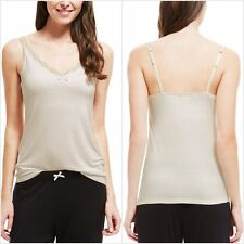 Ex M&S Marks and Spencer Women's Cream Secret Support™ Lace Trim Vest Cami Top