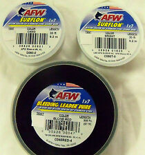 210 LB, 30 FEET - AFW 1X7 SURFLON - COATED - STAINLESS STEEL FISHING WIRE