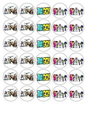 30x 4cm TEEN TITAN EDIBLE FONDANT/WAFER FAIRY CUP CAKE TOPPERS