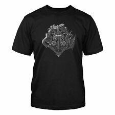 MINECRAFT Official Licensed Mine Craft HEROES CREST T-Shirt Black Youth T Shirt