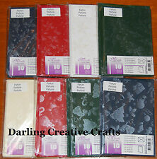 Pack 10 Pine Scented Printed Xmas A5/C6 Card Blanks & Envelopes - asst colours