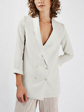 Womens Ladies TOPSHOP Soft Tailored Putty Blazer with Relaxed Fit RRP £55