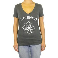 Ladies V Neck Science T Shirt Nerd S New Geek Tee Cool Funny T-Shirt Women