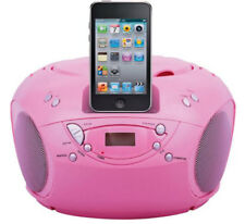 BUSH PORTABLE CD PLAYER WITH IPOD SPEAKER DOCK - PINK