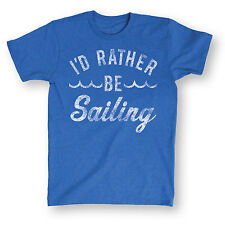 Id Rather Be Sailing-Men ADULT SHORT SLEEVE TEE