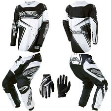 ONeal Element Black Kids/Youth Motocross Dirtbike Gear Jersey Pants Gloves Combo