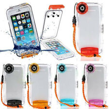 Underwater 40m Waterproof Diving Housing Cover Case For iPhone 6s/6 Plus SE 5S
