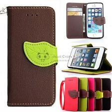 For Apple iPhone 4/4S 5/5S 6/6S 6Plus Magnetic Flip PU Leather Case Cover Strap