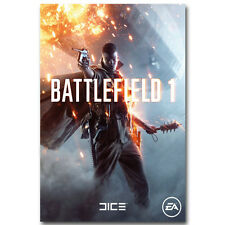 """Battlefield 1 4 New Shooting Game Silk Poster 12x18 24x36"""" Military War Picture"""