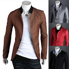 New Mens Stylish Slim Fit Two Button Business Casual Blazer Jacket Suit Coat