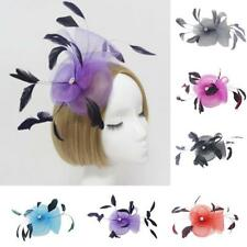 Feather Wedding Ladies Fancy Ascot Race Fascinator on Clip Hair Accessories