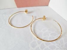 Vintage Goldtone or Silvertone Hoop Pierced Earrings - Your Choice