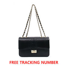 Gold Chain Snake Prints Flap Bag / Crossbody Bag / Shoulder Bag Made in KOREA