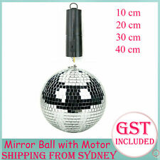 10 20 30 40cm Mirror Ball with Battery Operated Spin Rotating Motor Disco Stage