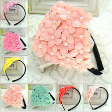 Imitation Pearl Headdress Girls Flowers Hair Hoop Princess Hair Accessories Gift