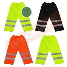 HIGH VISIBILITY HI VIZ VIS TROUSERS PADDED OVER REFLECTIVE SAFETY WORK WEAR