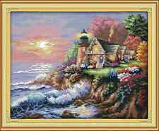 Kit broderie point de croix imprimé/compté,11CT/14CT,The seaside,Cross Stitch