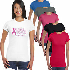 Breast Cancer I Wear Pink Ribbon Special Charity Race For Life Ladies T shirt