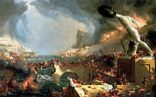 Destruction: fourth in the series Course of Empire, Thomas Cole (American print)