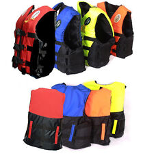 Life Jacket Vest PFD Fully Enclose Foam Adult Boating Whistle Size L to XXL OY