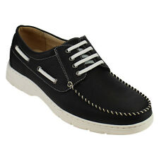 Arider AD11 Men's Moccasin Four Eyes Lace Up Flat Heel Boat Oxfords
