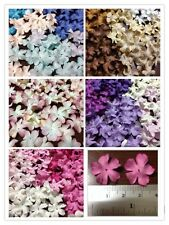 100 Artificial Mulberry Paper Blossom flowers Petal Handmade Scrap-booking 20 mm