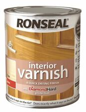 Ronseal Interior Wood Varnish Gloss Quick Drying 750ml - 7 Colours