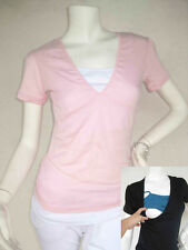 BELLA Breastfeeding Top Tshirt Nursing Tops Tee PINK Nursing Wear NEW Maternity