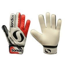 Sondico Boys Goal Keeper RD Wh BK Gloves Goalie Football Kids Children All Sizes