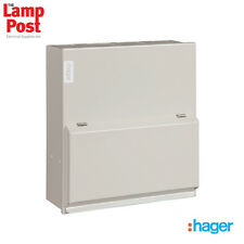 Hager VML406H - 6 Way 63A 30mA RCCB Incomer Metal Consumer Unit Amendment 3