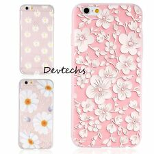 Soft TPU Slim Silicone Cute Flower Matte Cover Case NEW For iPhone 6 6S & 6 Plus