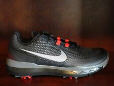 New! Mens NIKE TW Tiger Woods Golf Spikes/Shoes BLACK/RED/GREY/WHITE