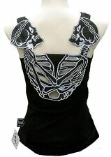 ROCKABILLY PUNK SCENE SKIRT BABY Gothic Party Skull sexy TANK TOP SHIRT XS/S/M/L