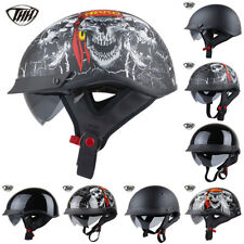 Half Helmet Motorcycle Popular Harley Style Motorbike Helmets ABS  DOT Approved