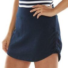 NEW Chaps Womens Navy Blue White French Terry Skirt Shorts Skort XL 2X $59 NWT